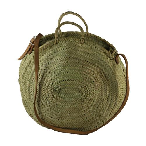 rieten tas met leer ibiza style