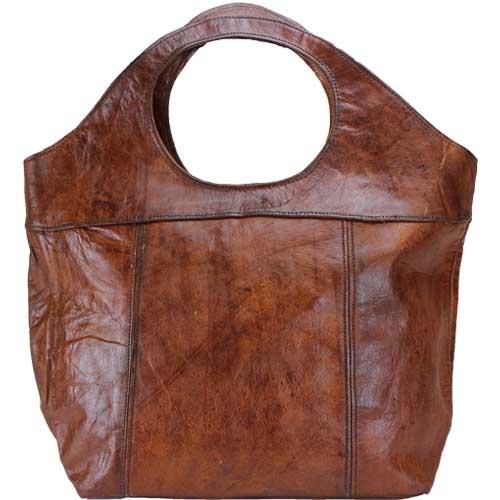 8fb606dce1d Leren shopper/handtas bruin | De Tagine