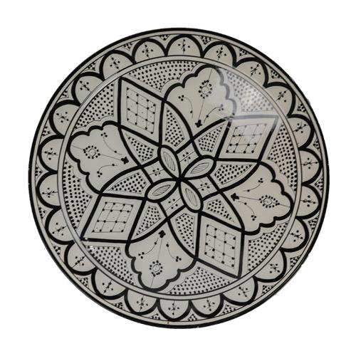 Wonderbaar Aardewerk zwart wit fruitschaal 42cm | De Tagine LD-62