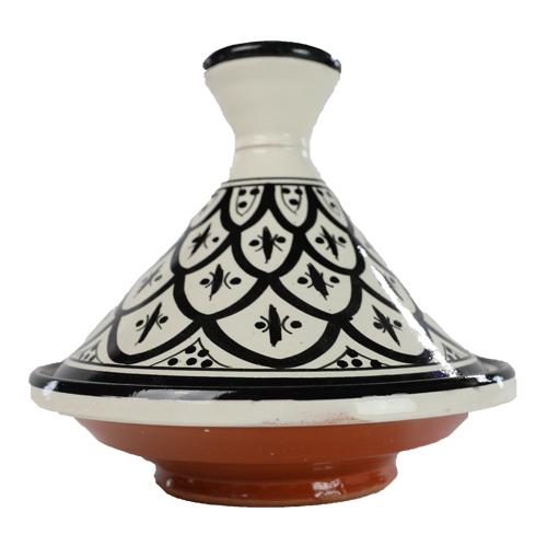 Zwart - wit decoratie Tajine - De Tagine