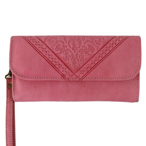 Roze Portemonnee.Portemonnee Clutch Pastel Roze De Tagine